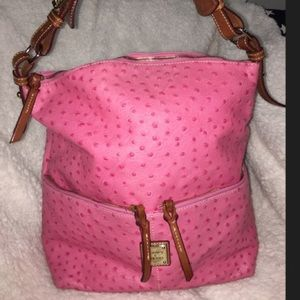 Ostrich Bayou Collection Pink Leather Satchel